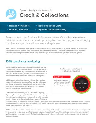Speech Analytics Solutions for Credit & Collections