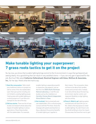 Tunable Lighting: 7 Grass Roots Tactics to Get It On the Project