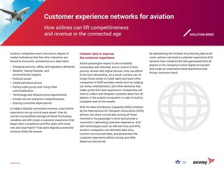 Customer Experience Networks for Aviation