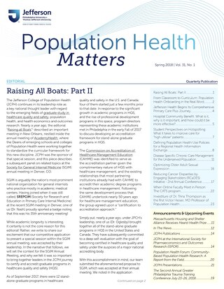 Population Health Matters Spring 2018