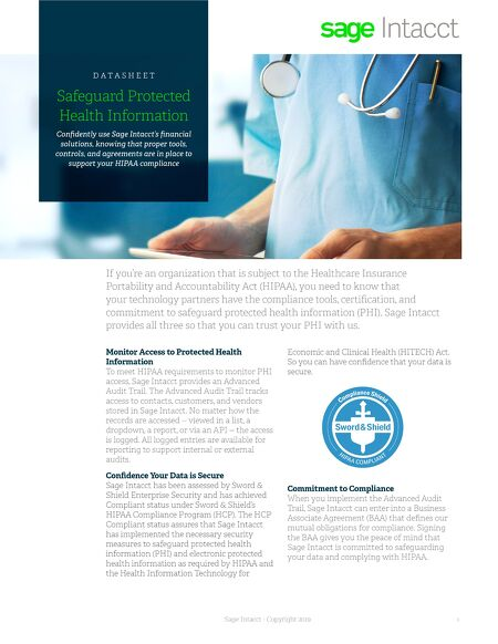 Data Sheets Safeguard Protected Health Information