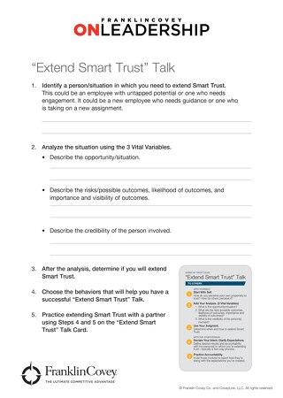Extend Smart Trust