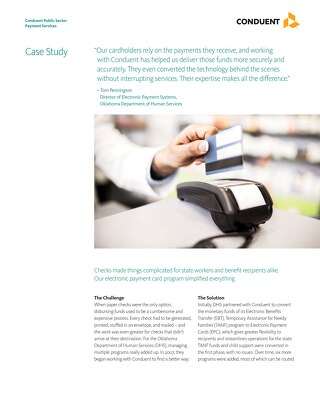 Electronic Payment Card Program