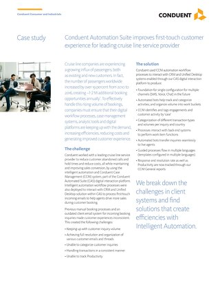Case Study: Conduent Automation Suite