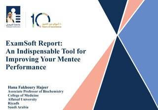 ExamSoft Report: An Indispensable Tool for Improving Your Mentee Performance