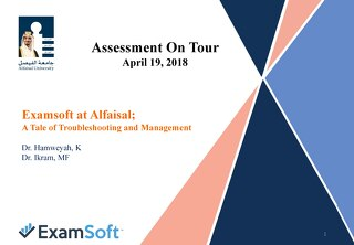 ExamSoft at Alfaisal: A Tale of Troubleshooting and Management