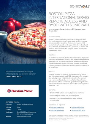 Boston Pizza Case Study