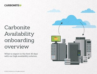 Carbonite Availability Onboarding