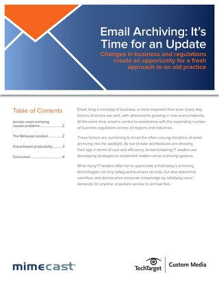 Email Archiving - Time for an Update