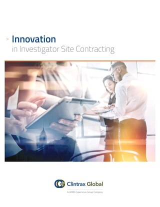 Innovation in Investigator Site Contracting
