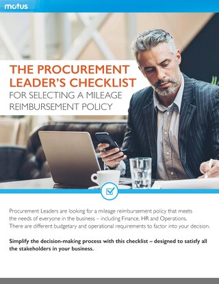The Procurement Leader's Checklist for Selecting a Mileage Reimbursement Policy