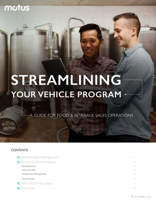 Streamlining Your Vehicle Program: A Guide for Food and Beverage Sales Operations