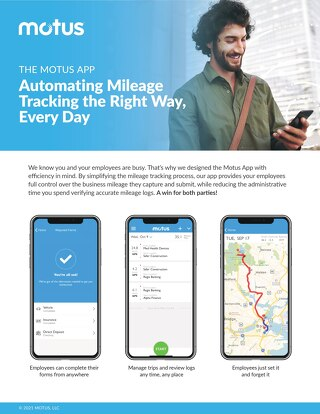 Motus Mileage Tracking: Mileage Tracking the Right Way, Every Day