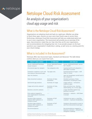 Netskope Cloud Risk Assessment (CRA)
