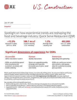 Spotlight on Quick Serve Restaurants