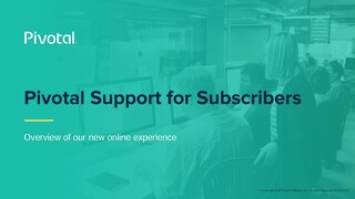 Pivotal Support for Subscribers: Onboarding