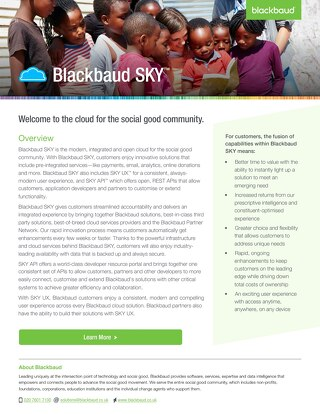 Blackbaud Sky Overview