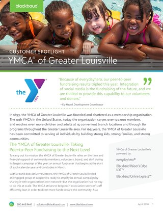 Tripled Peer to Peer Results for YMCA of Louisville