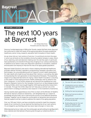 Baycrest Impact Bulletin - SUMMER 2018