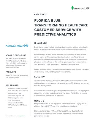 Florida Blue: Transforming customer service with predictive analytics
