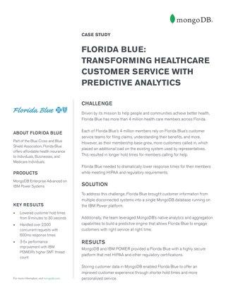 Florida Blue: Transforming customer service with predictive analytics