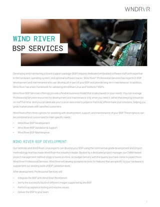 Professional Services BSP Services Offerings Datasheet