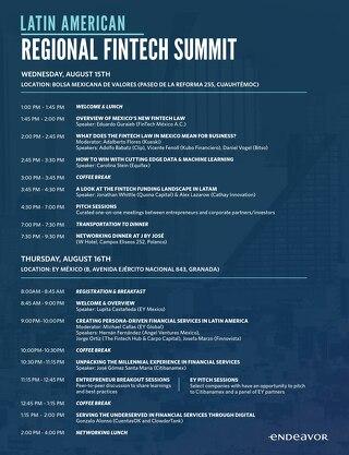 Regional Fintech Summit Agenda