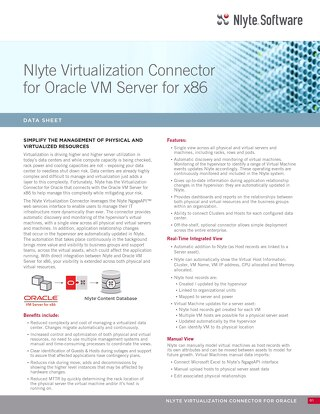 VirtualizationConnectorOracleVMServer x86