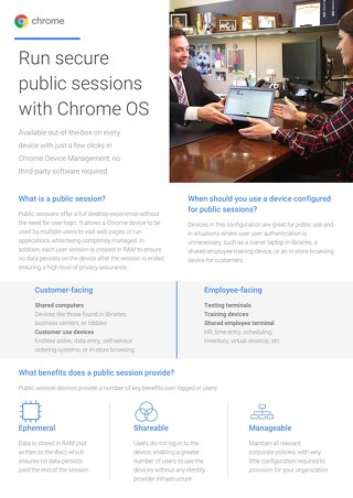 Google Chrome: Public Sessions
