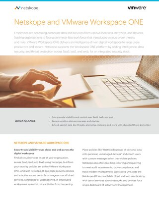 Netskope and VMware Workspace ONE