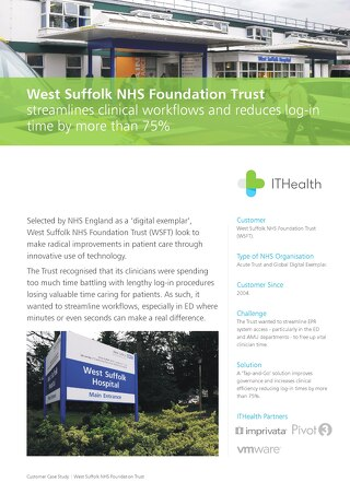 [Case Study] West Suffolk NHS Foundation Trust streamlines clinical workflows and reduces log-in time by more than 75%