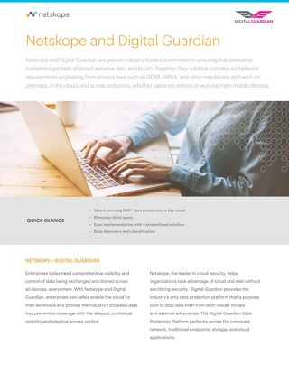 Netskope and Digital Guardian