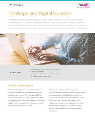 Netskope and Digital Guardian