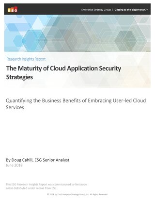 ESG Research Insights Report: The Maturity of Cloud Application Security Strategies