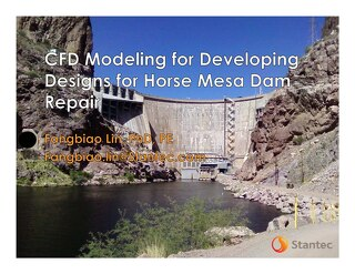 CFD Modeling for Developing Designs for Horse Mesa Dam Repair