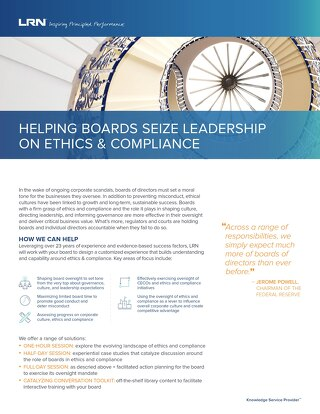 Helping Boards Seize Leadership on Ethics & Compliance