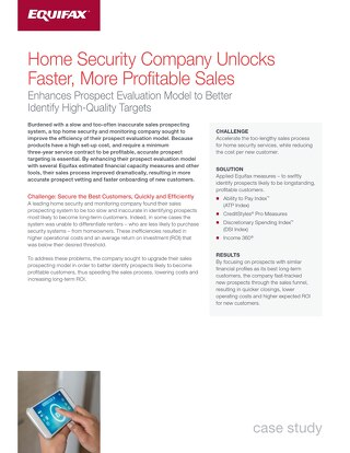 Home Security Case Study