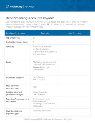 Benchmarking Accounts Payable