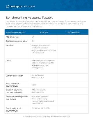 Benchmarking Accounts Payable