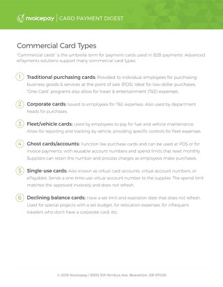 Commercial Card Types