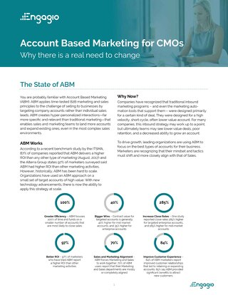 Executive Guide to Account Based Marketing  |  Engagio