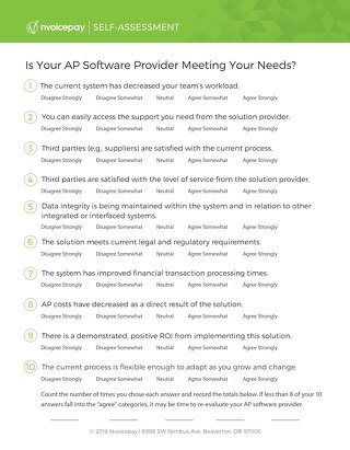 Is Your AP Software Provider Meeting Your Needs