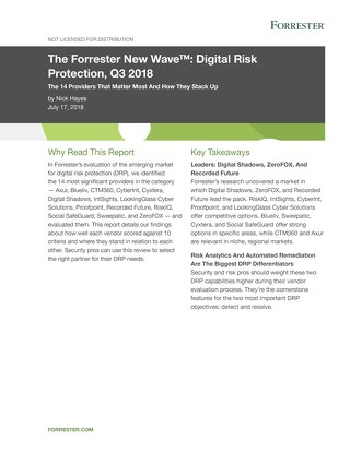 Digital Risk Protection 2018 Forrester New Wave