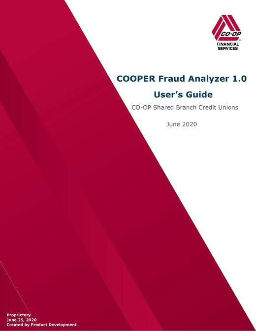 COOPER Fraud Analyzer User's Guide