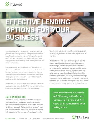 Effective Lending Options for Your Business