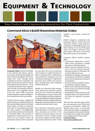 Rock Products Magazine Features Command Alkon's BuildIt Solution