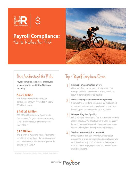 Payroll Compliance: How to Reduce Your Risk