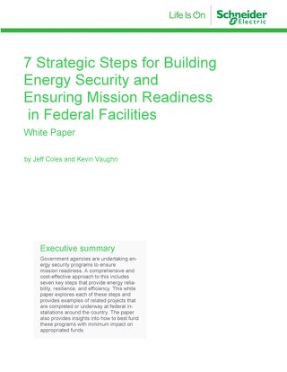 7 Steps for Building Energy Security & Mission Readiness