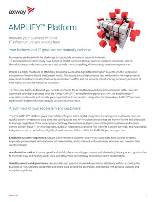 AMPLIFY™ Hybrid Integration Platform