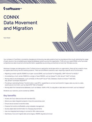 CONNX data movement & migration